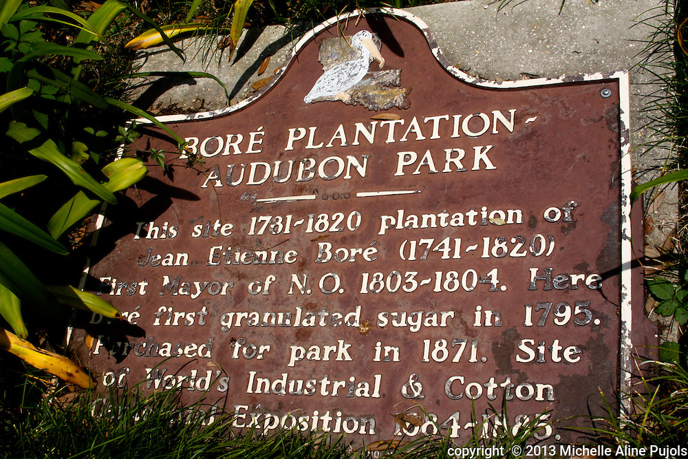 Historic sign at Audubon Zoo
