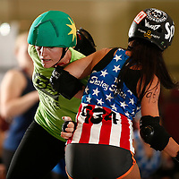 Team USA B defeats Team Australia B 91-65 on day four of RollerCon 2013, at the Riviera Hotel, in Las Vegas, Nev., on Saturday, Aug. 3, 2013.