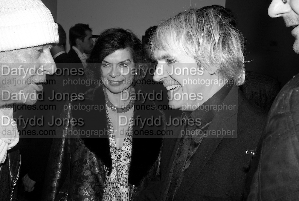NICKY HASLAM, BIANCA JAGGER AND NICK RHODES, Vanity Fair Portraits: Photographs 1913-2008. Hosted by Burberry and Vanity Fair. National Portrait Gallery. London. 9 February 2008.  *** Local Caption *** -DO NOT ARCHIVE-© Copyright Photograph by Dafydd Jones. 248 Clapham Rd. London SW9 0PZ. Tel 0207 820 0771. www.dafjones.com.