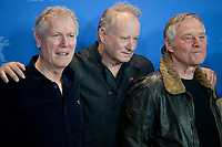 Director, Screenwriter Hans Petter Moland, and actors Stellan Skarsgård and Bjørn Floberg at the photocall for the film Out Stealing Horses (Ut Og Stjæle Hester) at the 69th Berlinale International Film Festival, on Saturday 9th February 2019, Hotel Grand Hyatt, Berlin, Germany.