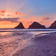 Haceta Head Sunset - Oregon Coast - HDR