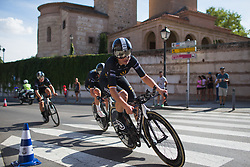 Audrey Cordon-Ragot (FRA) of Wiggle High5 Cycling Team leans into the final corner on Stage 1 of the Madrid Challenge - a 12.6 km team time trial, starting and finishing in Boadille del Monte on September 15, 2018, in Madrid, Spain. (Photo by Balint Hamvas/Velofocus.com)