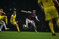 London, England - Tuesday, January 30, 2007: Liverpool against West Ham United's Callum Davenport during the Premiership match at Upton Park. (Pic by Chris Ratcliffe/Propaganda)