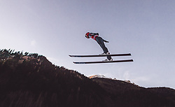 11.01.2019, Stadio del Salto, Predazzo, ITA, FIS Weltcup Skisprung, Val di Fiemme, Herren, Training, im Bild Stephan Leyhe (GER) // Stephan Leyhe of Germany during the training jump of men's FIS Skijumping World Cup at the Stadio del Salto in Predazzo, Itali on 2019/01/11. EXPA Pictures © 2019, PhotoCredit: EXPA/ JFK