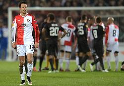 26-02-2015 NED: Europa League Feyenoord - AS Roma, Rotterdam<br /> In the photo Mitchell Te Vrede #19 krijgt de rode kaart