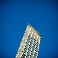 Contemporary architecture on Sunny Isles Beach, Miami