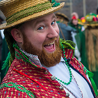 CHICAGO - MARCH 16 : A man with a Renaissance costume before Participating in the annual Saint Patrick's Day Parade in Chicago on March 16 2013