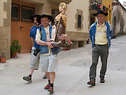 In the small village of Lorca these three polish pilgrims had walked from Warsaw carrying a wooden statue of Saint Paul. They had their bags transported for them and each day took turns to carry the 15kg statue to reach their goal in Santiago de Compostela.