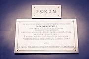 Plaque at St. Donatus Church and Roman forum, Zadar, Dalmatian Coast, Croatia