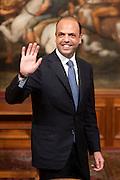 2013/05/03 Roma,  giuramento dei viceministri e dei sottosegretari. Nella foto Angelino Alfano..Rome, oath of deputy ministers and undersecretaries. In the picture Angelino Alfano - © PIERPAOLO SCAVUZZO