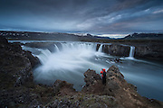 Godafoss waterfall in north-Iceland.