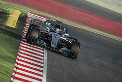 March 7, 2017 - LEWIS HAMILTON (GBR) drives on the track in his Mercedes W08 EQ Power+ during day 5 of Formula One testing at Circuit de Catalunya (Credit Image: © Matthias Oesterle via ZUMA Wire)