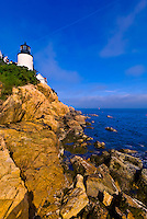 Bass Harbor Head Lighthouse, Acadia National Park, Mount Desert Island, Maine, USA