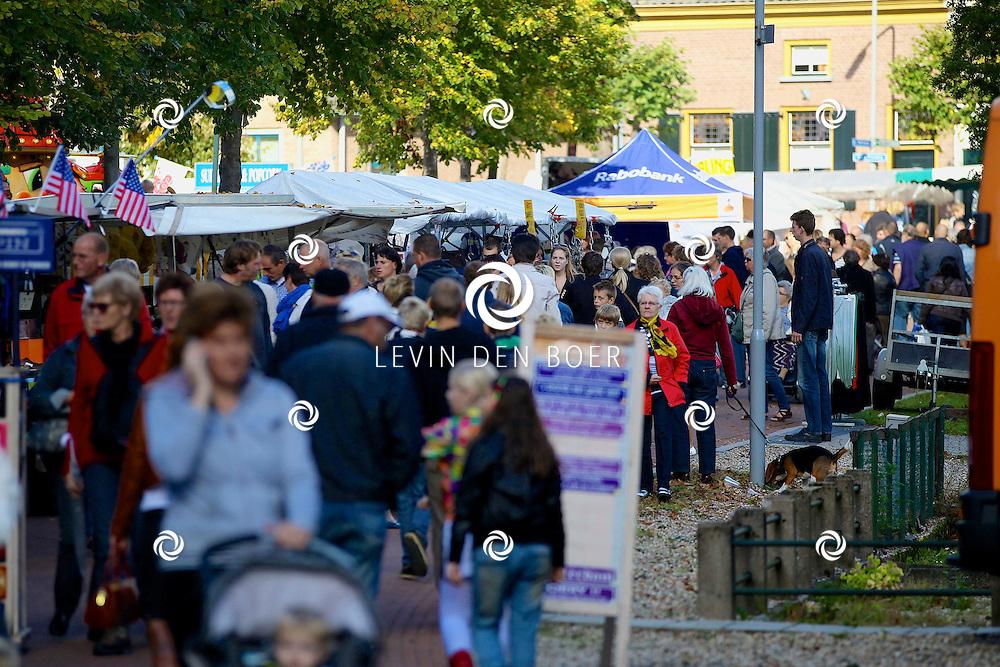 BRAKEL - De jaarlijkse Ponymarkt is weer druk bezocht. Mede dankzij het mooie weer. FOTO LEVIN DEN BOER - PERSFOTO.NU
