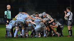 Scrumtime at the Gnoll<br /> <br /> Photographer Mike Jones/Replay Images<br /> <br /> Principality Premiership - Neath v Pontypridd - Friday 16th March 2018 - The Gnoll Neath<br /> <br /> World Copyright © Replay Images . All rights reserved. info@replayimages.co.uk - http://replayimages.co.uk