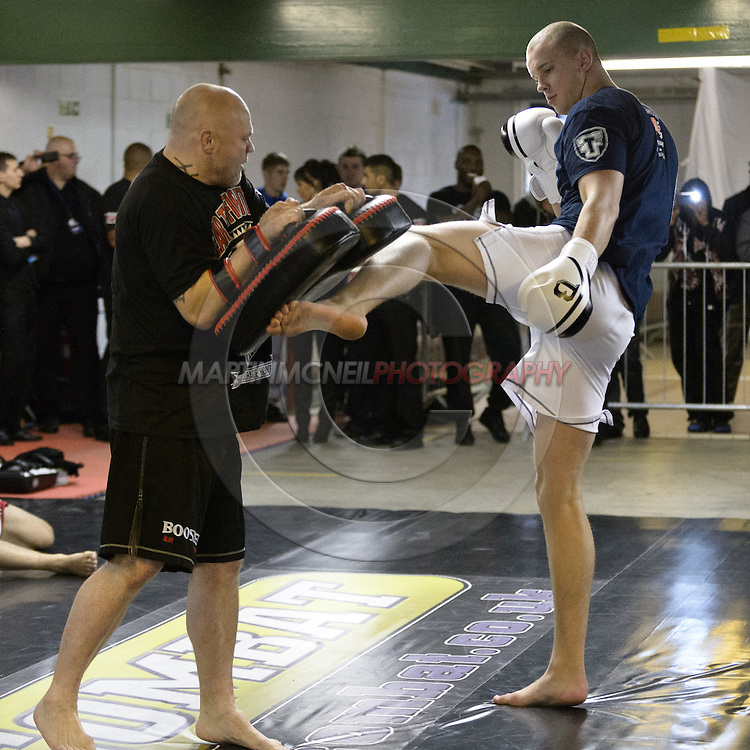 "NOTTINGHAM, ENGLAND, SEPTEMBER 26, 2012: Stefan Struve attends the open work-out sessions ahead of ""UFC on Fuel TV 5: Struve vs. Miocic"" inside Gym Combat in Nottingham, United Kingdom on Wednesday, September 26, 2012 © Martin McNeil"