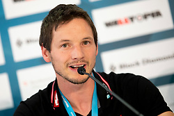 Austrica climbing team sports director, Heiko Wilhelm at Press conference after combined Finals at the IFSC Climbing World Championships Innsbruck 2018, on September 16, 2018 in OlympiaWorld Innsbruck, Austria, Slovenia. Photo by Urban Urbanc / Sportida