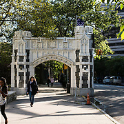 October 4, 2016 - New York, N.Y. : People walk along Convent Ave., near West 138th Street on the <br /> City College of New York campus on Tuesday afternoon, October 4. <br /> CREDIT: Karsten Moran for The New York Times