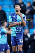 Darius Charles of Wycombe Wanderers celebrates their 1-0 win over Sunderland during the EFL Sky Bet League 1 match between Wycombe Wanderers and Sunderland at Adams Park, High Wycombe, England on 19 October 2019.