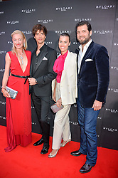 Left to right, PRINCESS LILLY ZU SAYN WITTGENSTEIN BERLEBURG, DAVID JARRE, PRINCE CASIMIR ZU SAYN WITTGENSTEIN  and ALANAH BUNTE at the launch of the new Bulgari flagship store at 168 New Bond Street, London on 14th April 2016.