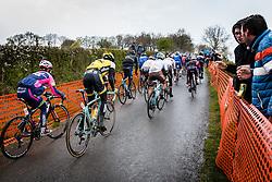 Back of the peloton with Paul Martens (GER) of Team Lotto NL - Jumbo at C&ocirc;te de La Redoute with 48 km to go, the 102th edition of Li&egrave;ge-Bastogne-Li&egrave;ge race running 253 km from Li&egrave;ge to Li&egrave;ge, Belgium, 24 April 2016.<br /> Photo by Pim Nijland / PelotonPhotos.com<br /> <br /> All photos usage must carry mandatory copyright credit (&copy; Peloton Photos | Pim Nijland)