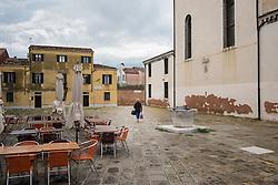 The empty square of Campo San Sebastian, Dorsoduro, Venice, Italy.<br /> Photo: Ed Maynard<br /> 07976 239803<br /> www.edmaynard.com
