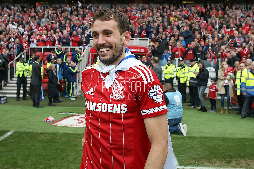 Middlesbrough forward Christian Stuani (18)  during the Sky Bet Championship match between Middlesbrough and Brighton and Hove Albion at the Riverside Stadium, Middlesbrough, England on 7 May 2016. Photo by Simon Davies.