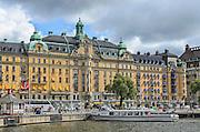 View of the boulevard Strandvägen in Östermalm in central Stockholm, Sweden