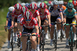 Anisha Vekemans (BEL) of Lotto Soudal Cycling Team takes a turn at the front during  the Giro Rosa 2016 - Stage 3. A 120 km road race from Montagnana to Lendinara, Italy on July 4th 2016.
