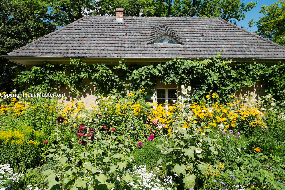 Garden at Summer house of German artist Max Liebermann in Wannsee Berlin Germany