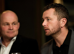 Sean Holley and Andy Robinson - Photo mandatory by-line: Joe Meredith/JMP - Mobile: 07966 386802 - 03/12/2014 - Bristol Sport Christmas Lunch - Bristol - Gold Brick House