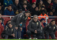 Football - 2019 /2020 FA Cup - Third Round: Arsenal vs. Leeds United.<br /> <br /> Marcelo Bielsa, Manager of Leeds United, and his assistant chat during the game at the Emirates Stadium<br /> <br /> COLORSPORT/DANIEL BEARHAM