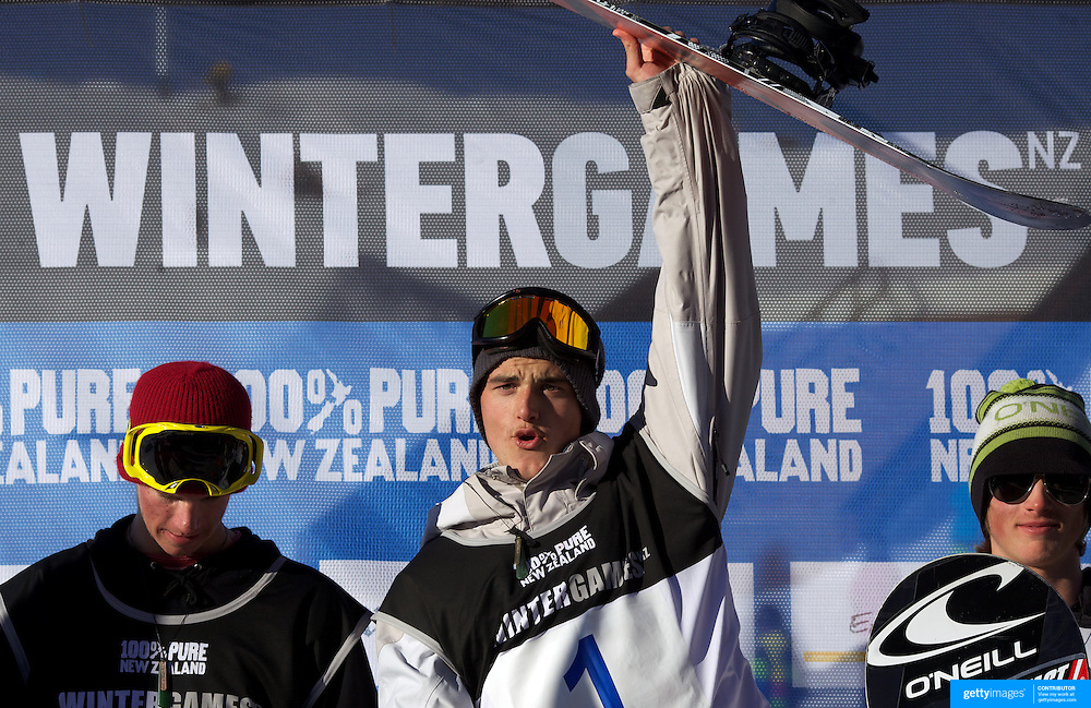 Torgeir Bergrem, Norway,winner of the Men's Snowboard Slopestyle   competition at Snow Park, New Zealand during the Winter Games. Wanaka, New Zealand, 21st August 2011. Photo Tim Clayton