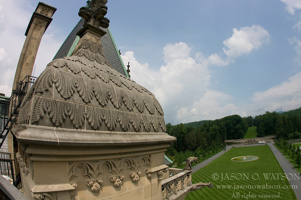 The Biltmore Estate was built by George Vanderbilt at the end of the 19th Century near Asheville, NC.  The house has over 250 rooms and 4 acres of floor space, making it the largest house in the US.