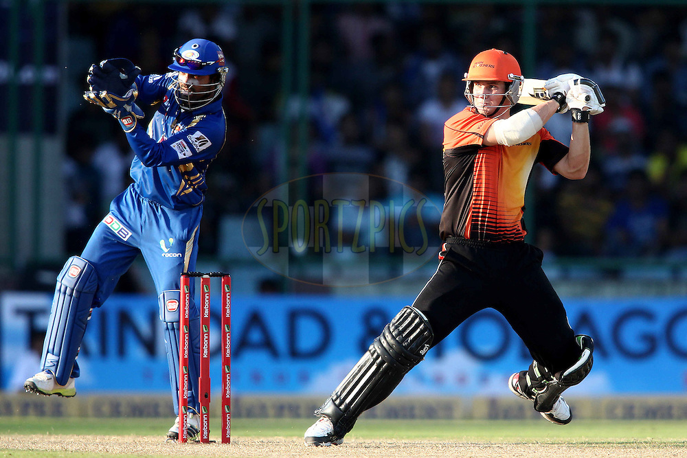 Hilton Cartwright of Perth Scorchers square cuts a delivery  to the boundary during match 19 of the Karbonn Smart Champions League T20 between the Perth Scorchers and the Mumbai Indians held at the Feroz Shah Kotla Stadium, Delhi on the 2nd October 2013<br /> <br /> <br /> Photo by Shaun Roy-CLT20-SPORTZPICS <br /> <br /> Use of this image is subject to the terms and conditions as outlined by the CLT20. These terms can be found by following this link:<br /> <br /> http://sportzpics.photoshelter.com/image/I0000NmDchxxGVv4