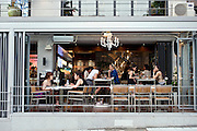 Between is one of a new brand of chic cafes, restaurants and bars that are becoming the norm in the once seedy district of Itaewon in Seoul, South Korea on 25 June 2010..Photographer: Rob Gilhooly