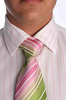 Close  up of pink tie