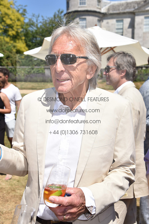 Derek Bell at the 'Cartier Style et Luxe' enclosure during the Goodwood Festival of Speed, Goodwood House, West Sussex, England. 15 July 2018.