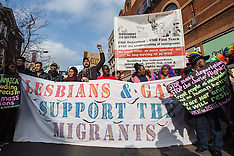 18 Feb 2017 - Hundreds join the Community Pride march in Peckham against migrant deportation.