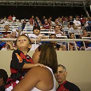 Flamengo fans exit the stadium after the teams loss against Palmeiras in the Futebol Brasileirao  League match at Estadio Olímpico Joao Havelange, Rio de Janeiro, Palmeiras won the match 3-1. Rio de Janeiro,  Brazil. 25th September 2010. Photo Tim Clayton