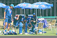 Harbhajan Singh during the Mumbai Indians nets session held at the Sawai Mansingh Stadium in Jaipur on the 26th September 2013<br /> <br /> Photo by Ron Gaunt-CLT20-SPORTZPICS <br /> <br /> Use of this image is subject to the terms and conditions as outlined by the CLT20. These terms can be found by following this link:<br /> <br /> http://sportzpics.photoshelter.com/image/I0000NmDchxxGVv4