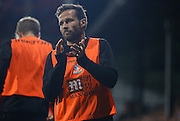 Yohan Cabaye appluades from the sidelines during the Capital One Cup match between Crystal Palace and Charlton Athletic at Selhurst Park, London, England on 23 September 2015. Photo by Michael Hulf.