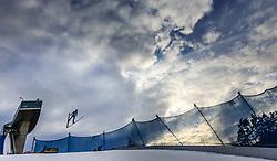 02.01.2016, Bergisel Schanze, Innsbruck, AUT, FIS Weltcup Ski Sprung, Vierschanzentournee, Qualifikation, im Bild Michael Hayboeck (AUT) // Michael Hayboeck of Austria during his Qualification Jump for the Four Hills Tournament of FIS Ski Jumping World Cup at the Bergisel Schanze, Innsbruck, Austria on 2016/01/02. EXPA Pictures © 2016, PhotoCredit: EXPA/ JFK
