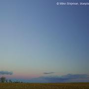 Idaho farmland at sunset