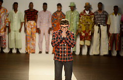 Cape Town-180707- Designer Chulaap showing gratitude at the SA mens wear week  held at the Lookout, V&A Waterfront. Picture: Siphephile Sibanyoni/ African News Agency (ANA).