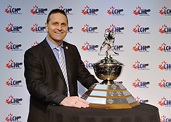 2015-16 Bumper to Bumper Brian Kilrea Coach of the Year Award recipient Gilles Bouchard at the ENMAX Centrium in Red Deer, Alberta on Saturday May 28, 2016. Photo by Terry Wilson / CHL Images.