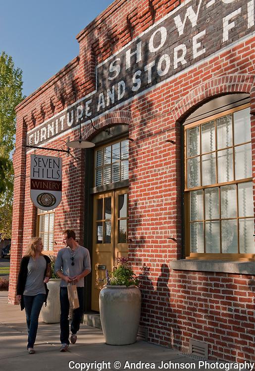 Seven Hills Winery tasting room, downtown Walla Walla, Washingon