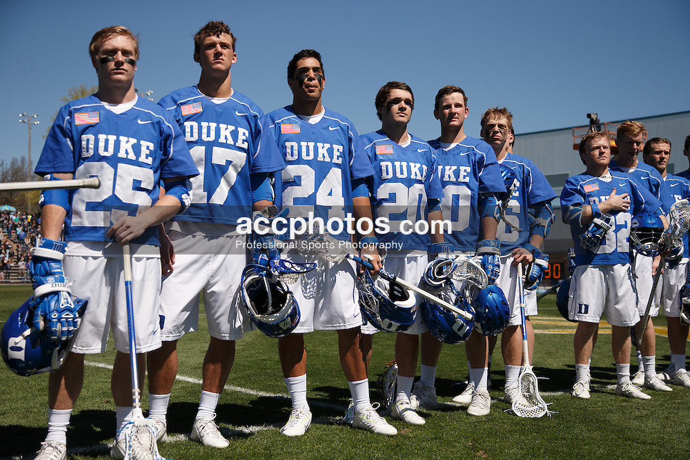 2015 March 29: Duke Blue Devils during a 14-15 loss to the North Carolina Tar Heels at Fetzer Field in Chapel Hill, NC. (Photo by Peyton Williams/US Lacrosse)