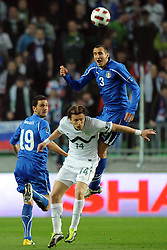 25.03.2011, SRC Stozice, Ljubljana, SLO, EURO 2012 Qualifikation, Slovenia vs Italy, im Bild Giorgio Chiellini Italia, Zlatko Dedic Slovenia. EXPA Pictures © 2011, PhotoCredit: EXPA/ InsideFoto/ Nicolo Zangirolami +++++ ATTENTION - FOR AUSTRIA/AUT, SLOVENIA/SLO, SERBIA/SRB an CROATIA/CRO CLIENT ONLY +++++