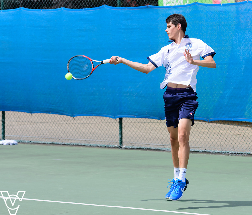 Glanville Cup - Reed's School [3] - Damian Rodriguez<br /> <br /> Team Tennis Schools National Championships Finals 2017 held at Nottingham Tennis Centre.  <br /> <br /> Picture: Chris Vaughan Photography for the LTA<br /> Date: July 14, 2017